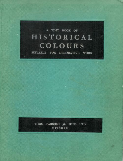 A tint book of historical colours - 1961