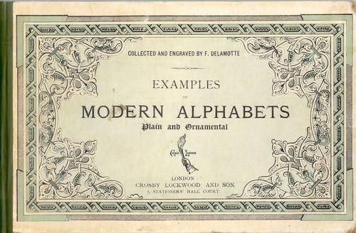 Book Modern Alphabets - 1913
