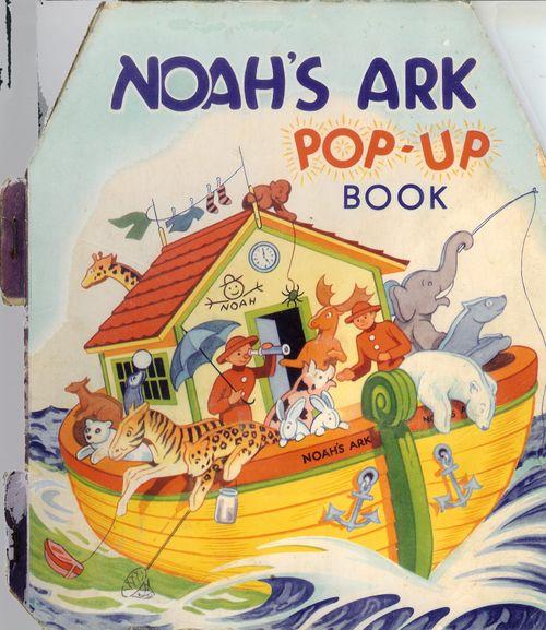 Book Noah's Ark pop up book - 1960
