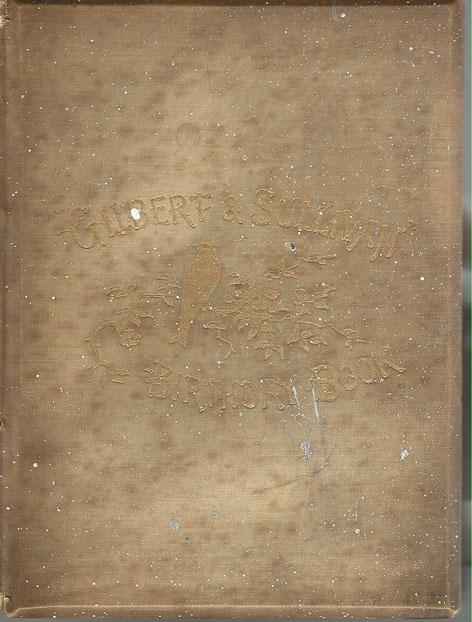 Gilbert and Sullivan Birthday book - 1888