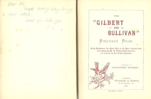 Inside Gilbert and Sullivan - Book from P