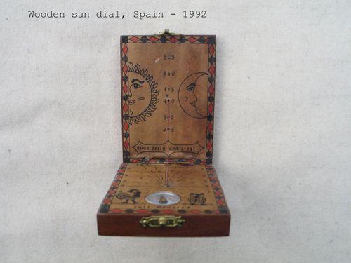 Wooden sun dial